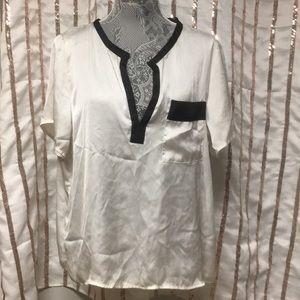 White Satin Blouse by H&M